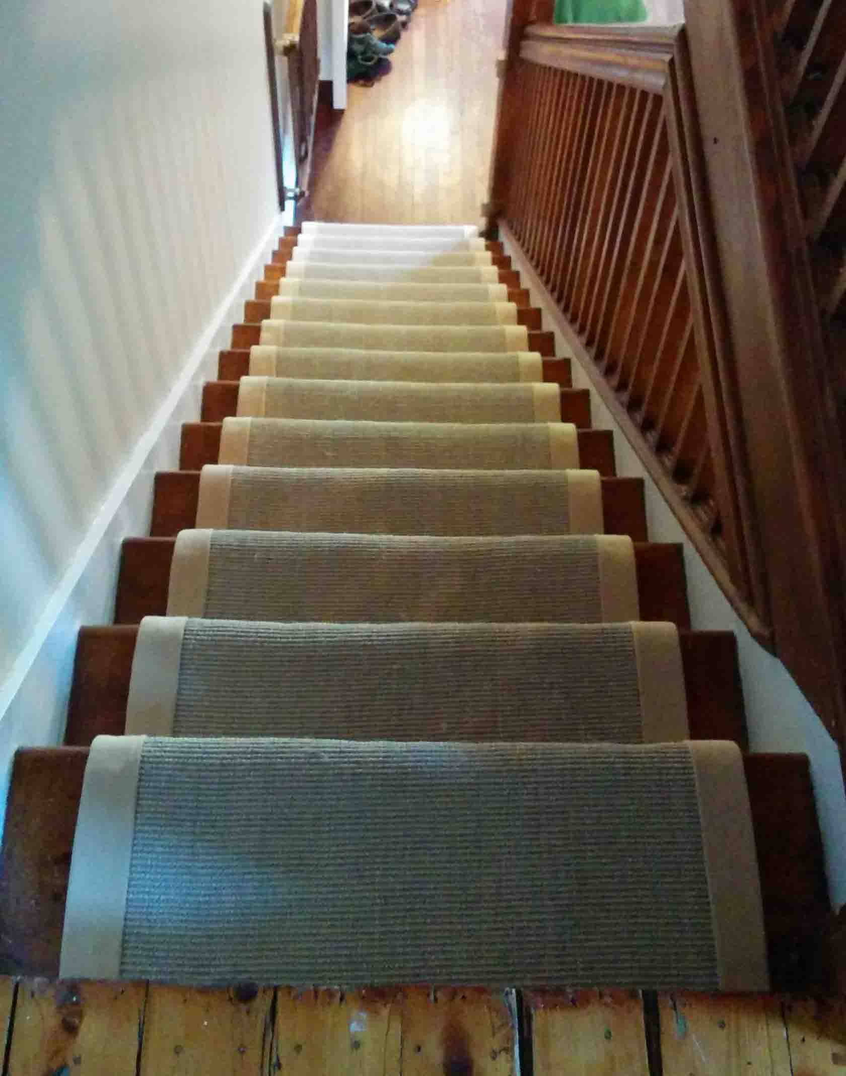 Natural sisal Carpet Runner for Stairs  Toronto Ontario Installers